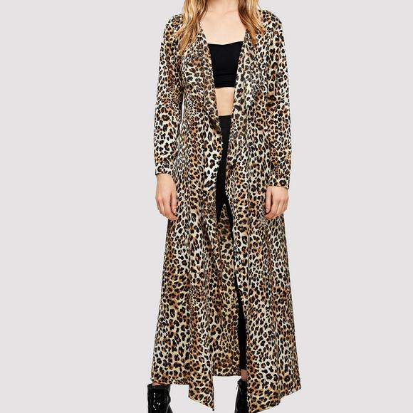 cd67d4a704 SHEIN Tops | Nwt Xs Leopard Boho Duster Kimono Festival | Poshmark